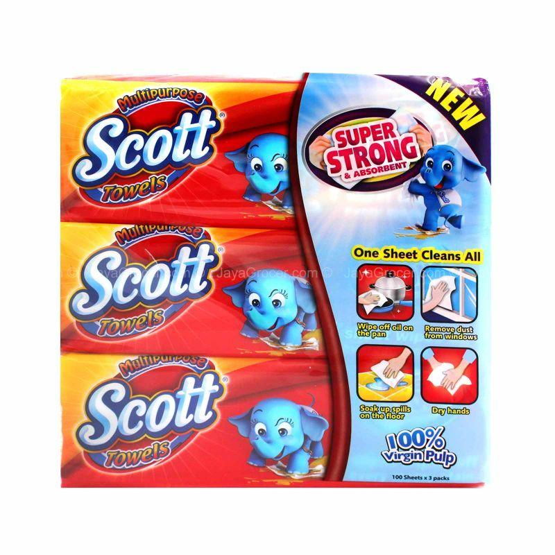 Scott Multipurpose Towel Tissues 100sheets x 3boxes