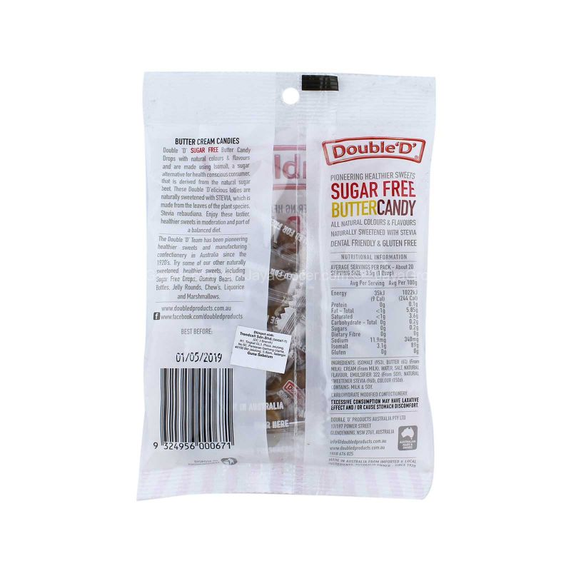 Double 'D' Sugar Free Butter Candy Drops 70g