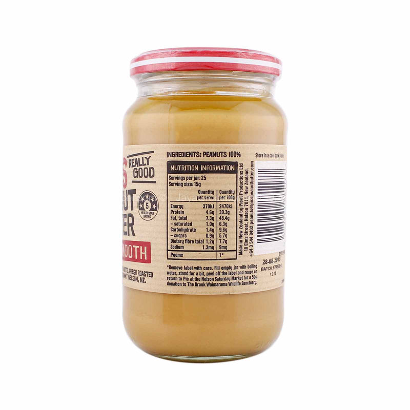 Pic's Smooth Peanut Butter No Salt 380g
