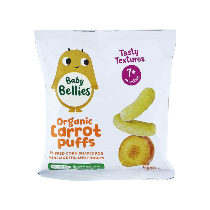 Little Bellies Organic Yummy Carrot Baby Puffs 12g