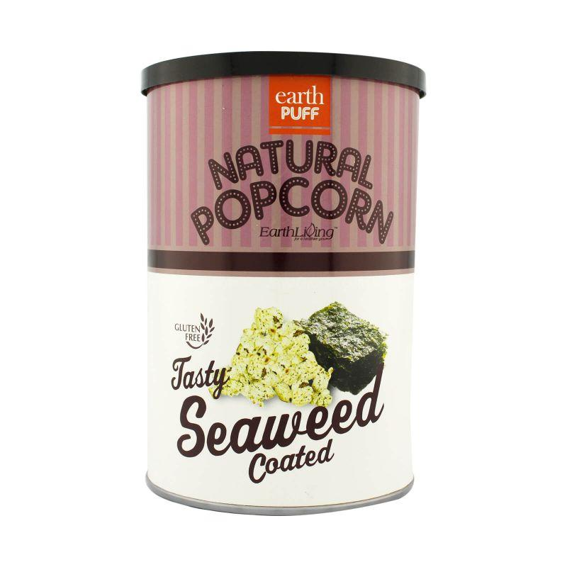 Earth Puff Natural Popcorn Tasty Seaweed Coated 80g