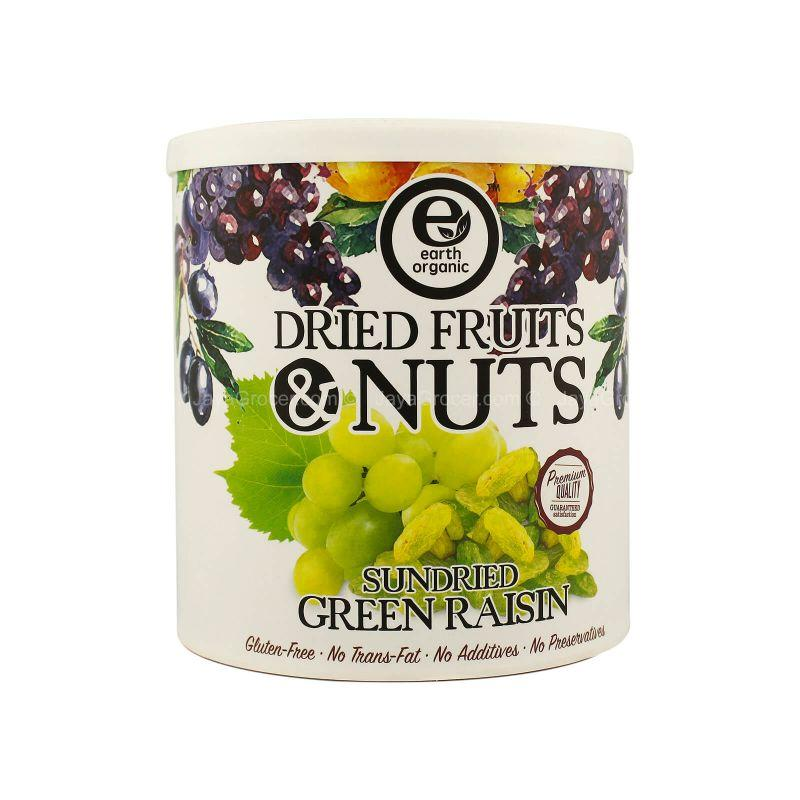 Earth Organic Sundried Green Raisin 300g