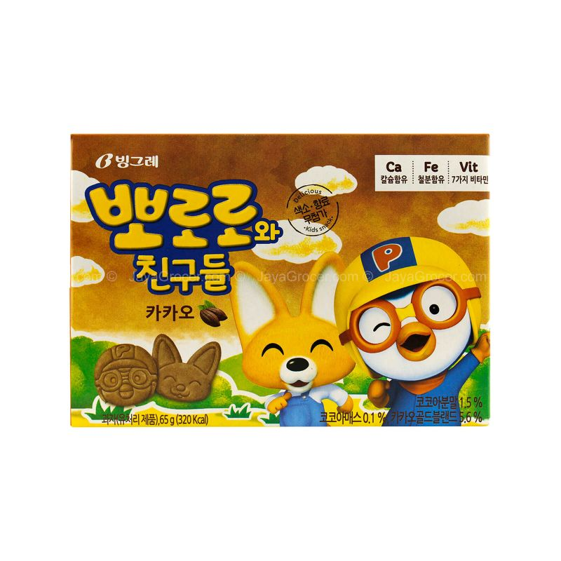 Binggrae Pororo Cacao Biscuit 65g