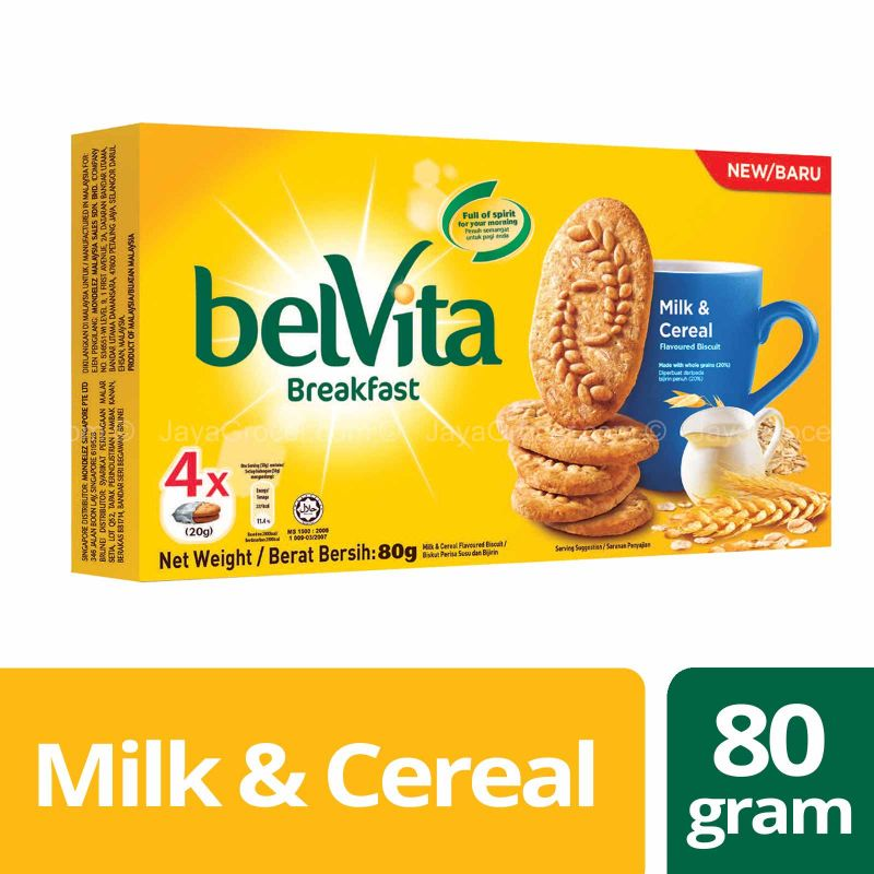 Belvita Milk & Cereal Flavoured Biscuit 80g