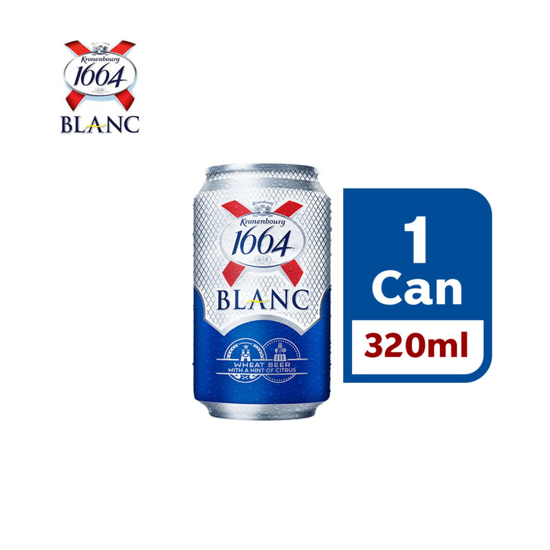 Kronenbourg 1664 Blanc Wheat Beer Can 320ml