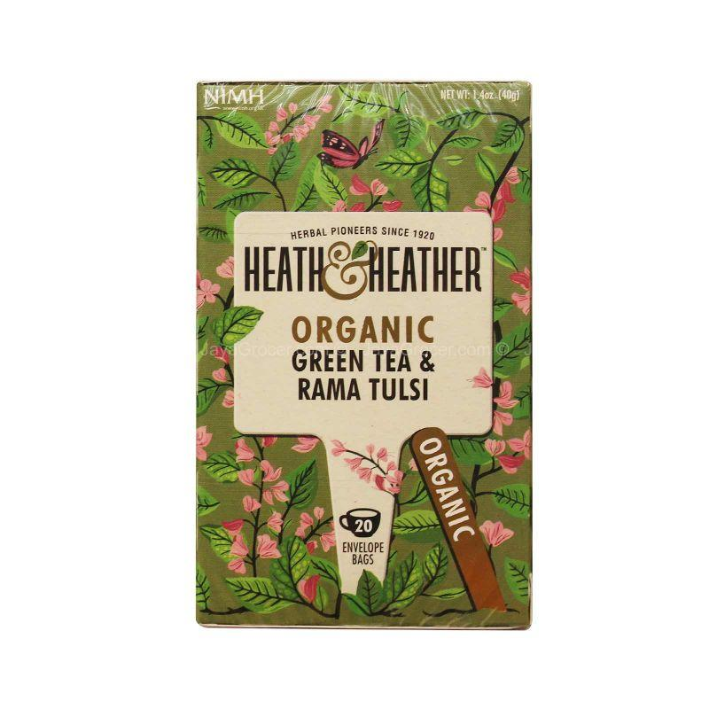 Heath & Heather Organic Green Tea & Tulsi 40g