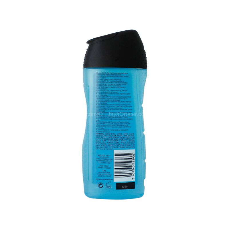Adidas Ice Dive Refreshing Body Hair Face Shower Gel 250ml