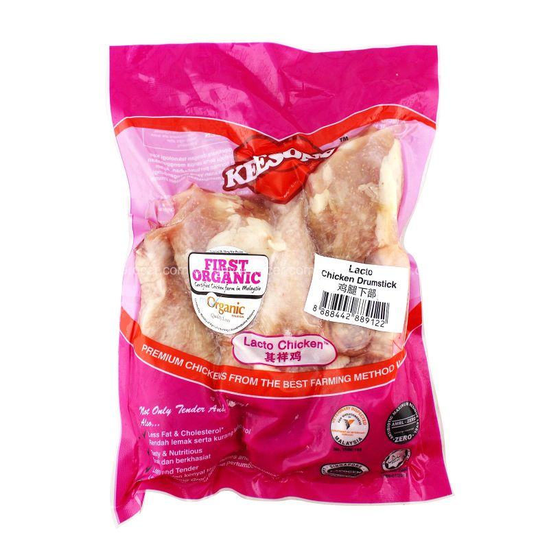 Keesong First Organic Lacto Chicken Drumstick 500g