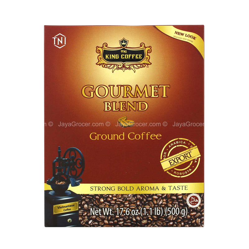 TNI King Coffee Gourmet Blend Ground Coffee 500g
