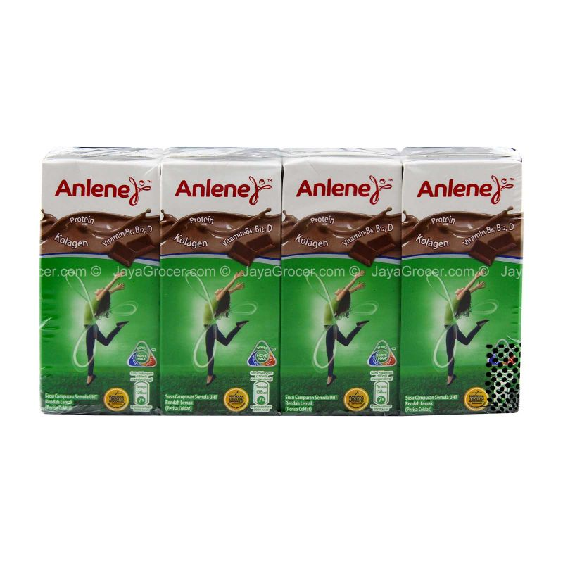 Anlene Low Fat UHT Recombined Chocolate Flavour Milk 180ml x 4