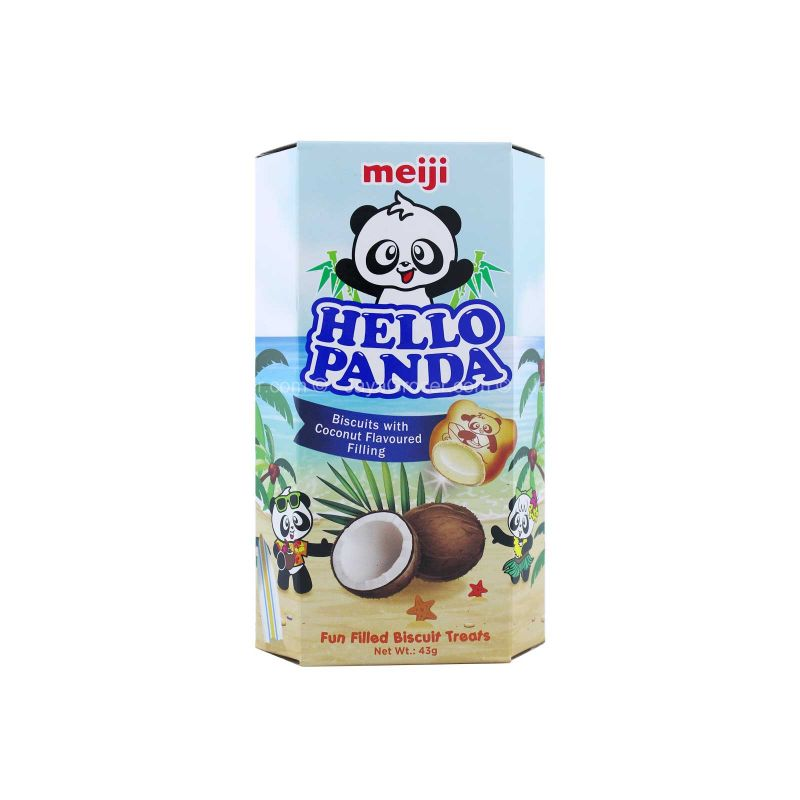 Meiji Hello Panda Biscuits with Coconut Flavored Filling 43g