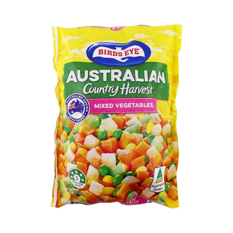 Bird's Eye Australian Country Harvest Mixed Vegetables 500g