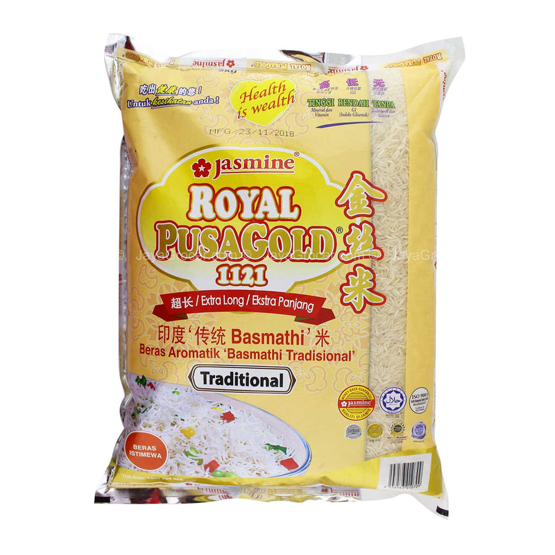 Jasmine Royal Pusa Gold 1121 Extra Long Traditional Aromatic Basmathi Rice 5kg