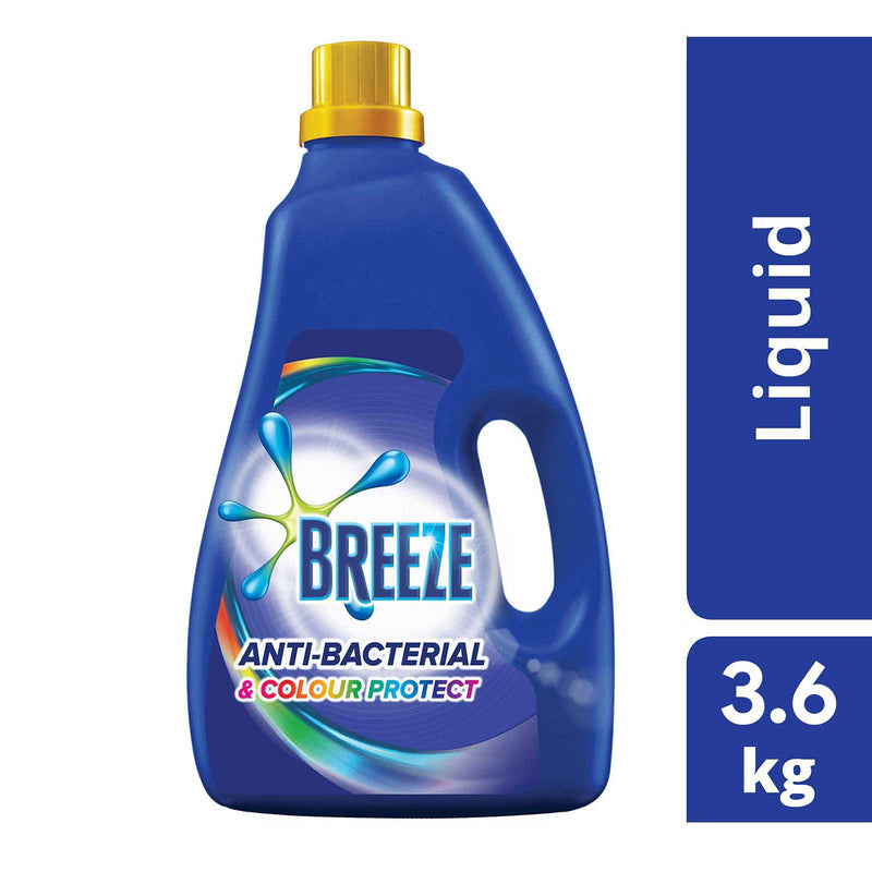 Breeze Detergent Liquid Anti-Bacterial & Colour Protect 3.8kg