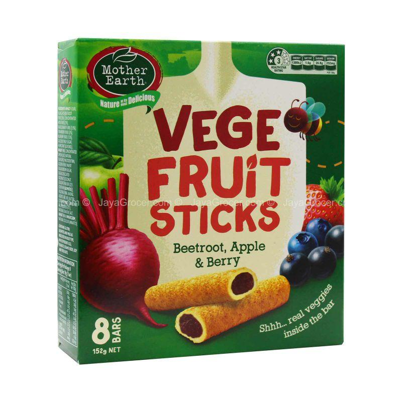 Mother Earth Vege Fruit Sticks Beetroot, Apple, and Berry 152g