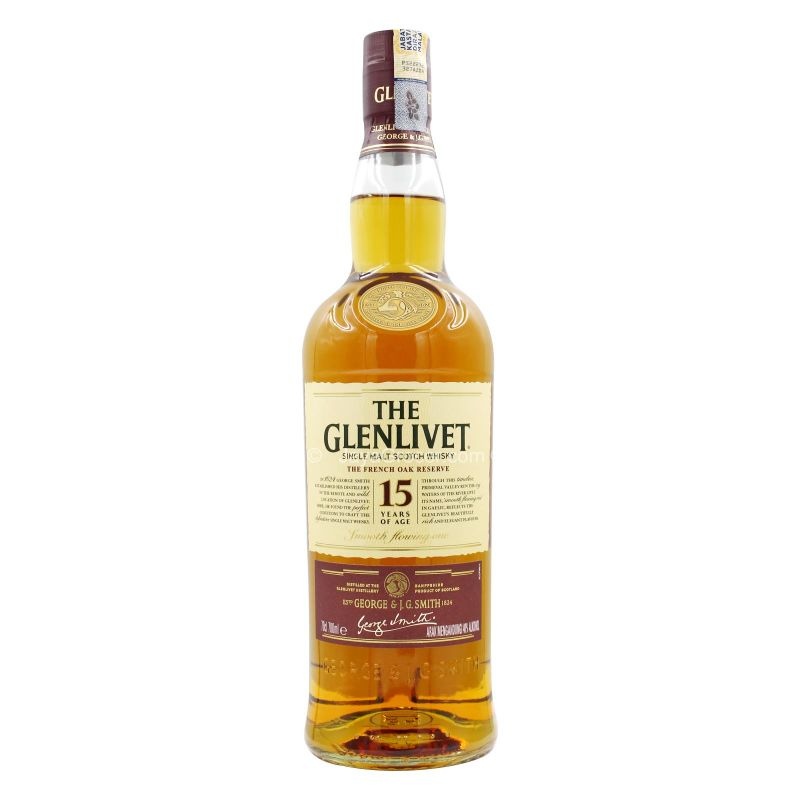 The Glenlivet 15 Years Sigle Malt Scotch Whisky 700ml