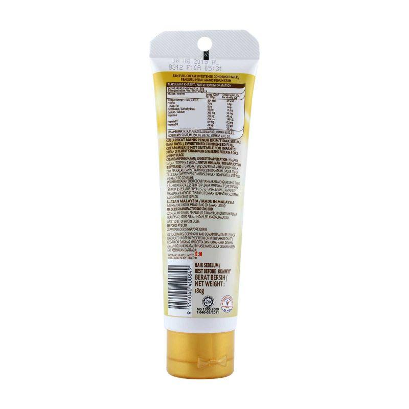 F&N Full Cream Sweetened Condensed Milk Tube 180g