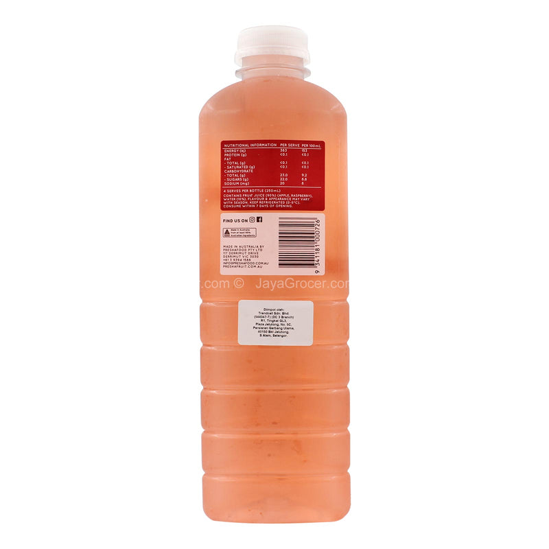 Presha Fruit Cold Pressed Apple and Raspberry Juice 1L