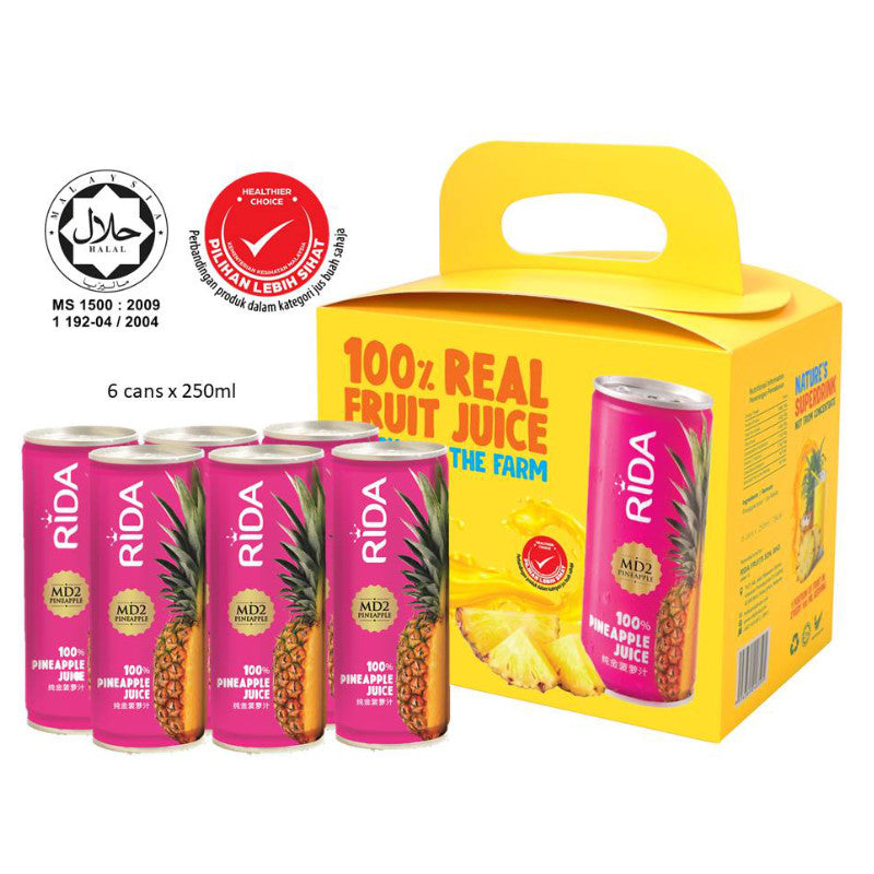 Rida 100% Real Pineapple Fruit Juice 250ml