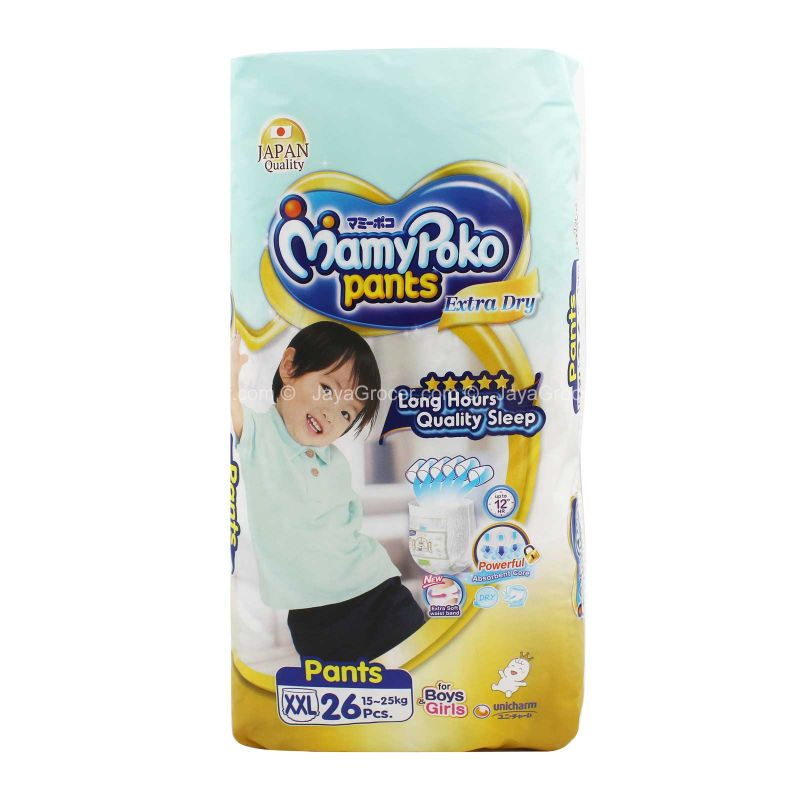 Mamy Poko Pants Extra Dry Diapers XXL (15-25kg) 26pcs