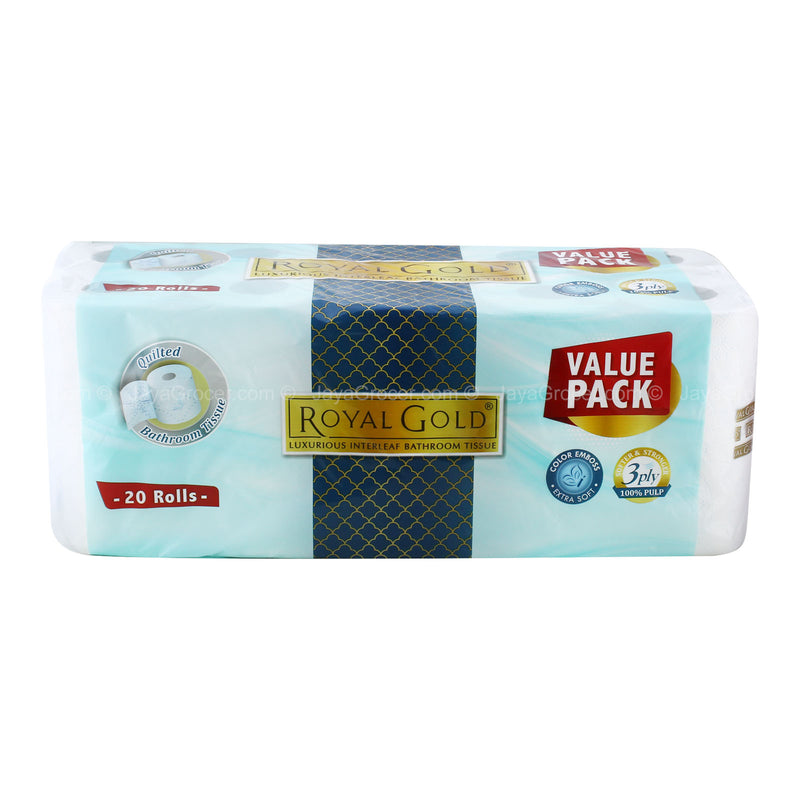 Royal Gold Quilted Bathroom Tissues Value Pack (3 Ply) 20roll