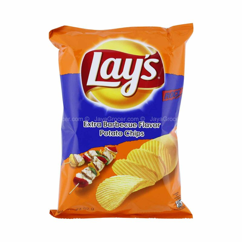 Lay's Extra Barbecue Flavour Potato Chips 52g
