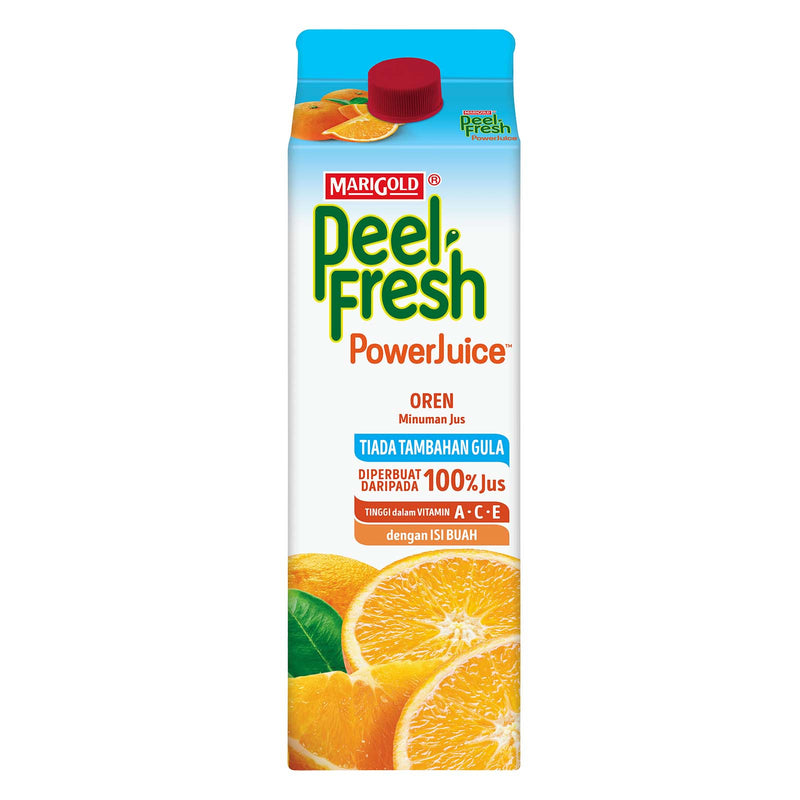 Marigold Peel Fresh Power Juice No Sugar Added Orange Juice Drink 1L
