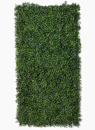 "Serene Spaces Living Artificial Boxwood Mat, Realistic Looking, Versatile Grassy Mat, Measures 20"" by 20"""