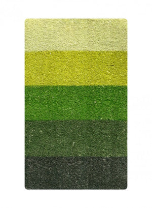 Green Striped Printed Coco Mat