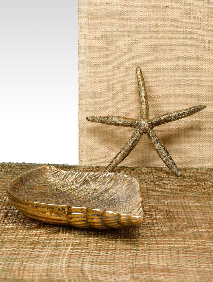 Antique Gold Poly Starfish