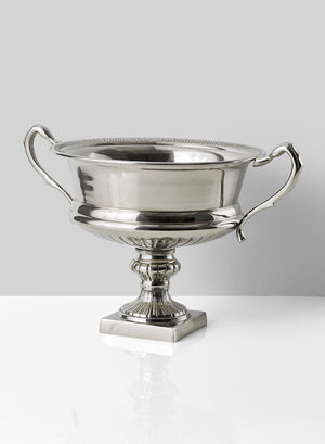 Serene Spaces Living Silver-Plated Trophy Flower Urn, Use for Home Décor, Event Centerpieces and Much More, Available in 3 Sizes
