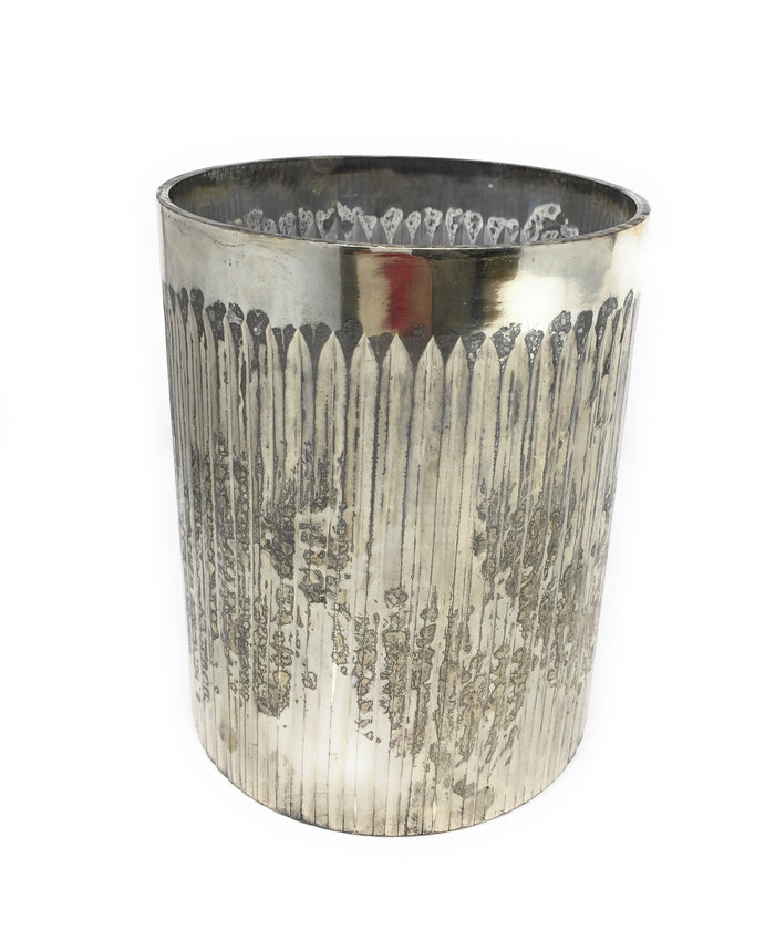 Etched Mercury Glass Cylinder