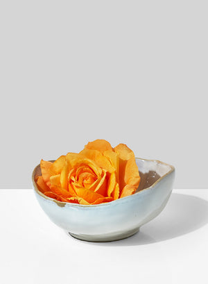 Serene Spaces Living Free-Form Edge Glazed Ceramic Bowl- Dinnerware, Centerpiece for Vintage Weddings, Events