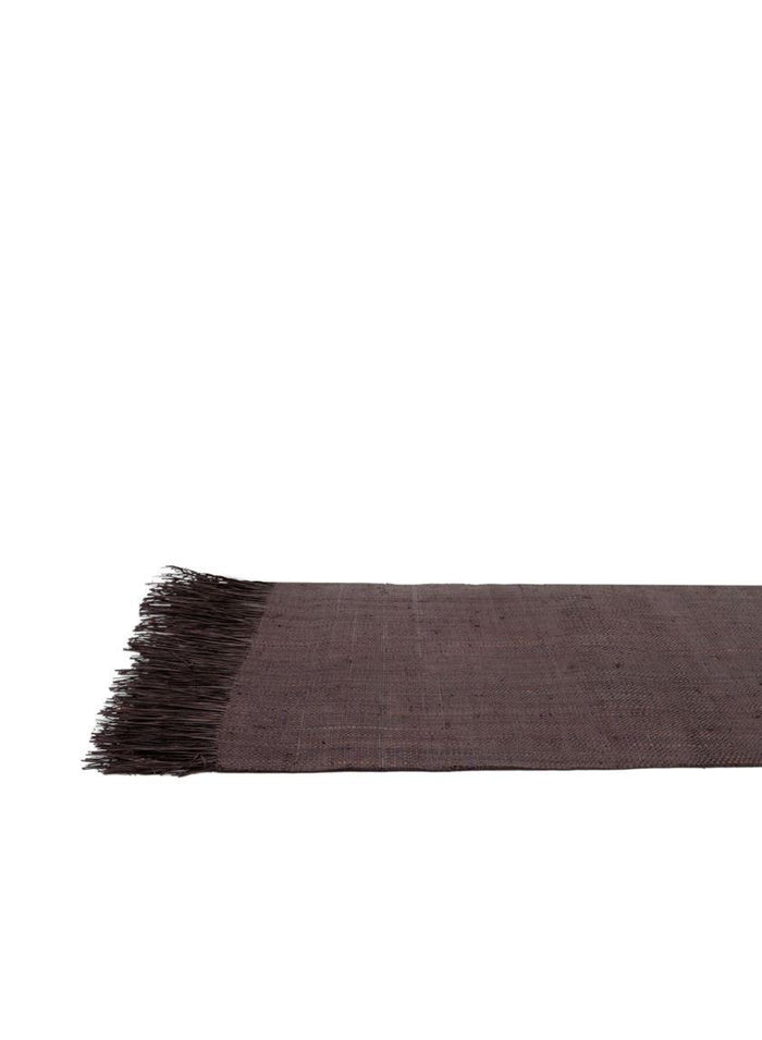 Serene Spaces Living Brown Raffia Runner, Measures 6' Long and 2' Wide, Dining Table Mat