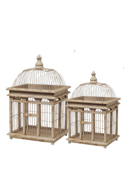 Antiqued Cream Birdcage