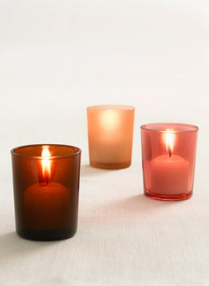 Colored Frost Votive Holders, Set of 4