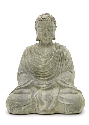 Oversized Antique Green Ficonstone Buddha