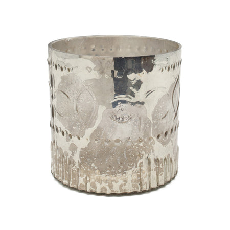 Decorative Antique Silver Cylinder
