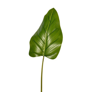 "Serene Spaces Living Faux Beryl Leaf, Real Looking Plant Leaves for Decoration, Measures 37"" Tall, Pack of 12"