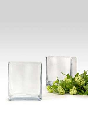 High Glass Cube Vase