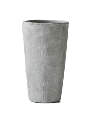 Decorative Grey Tapered Cement Vase, Ideal as Floral Centerpiece at Weddings and Events, 2 Sizes Available