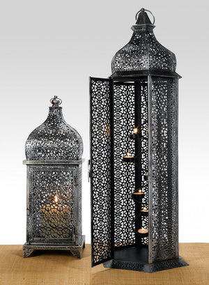 Antique Silver Iron Lanterns