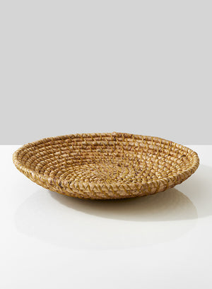 Serene Spaces Living Hyacinth Round Shallow Bowl, Ideal as Attractive Fruit Bowl or Catchall