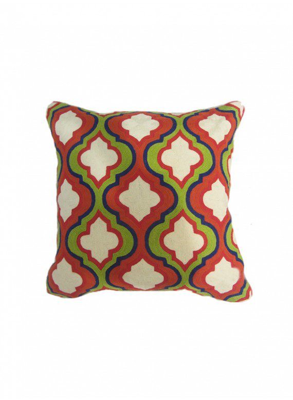 Handmade Red Marrakesh Pillow