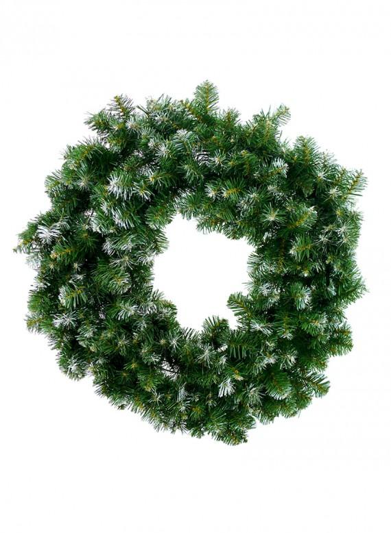 Large Pine Wreath with Snow Frost