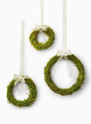 Lemon Cypress Mini Wreaths, Set of 3