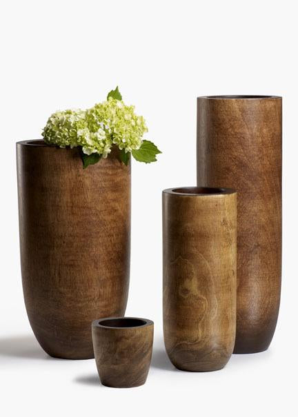 Light Brown Mango Wood Vases