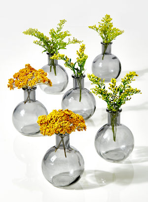 Serene Spaces Living Ball Bud Vase, Set of 6 or 36