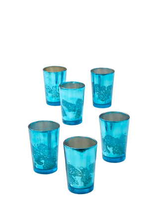 Mercury Glass Votive Holders, Set of 6