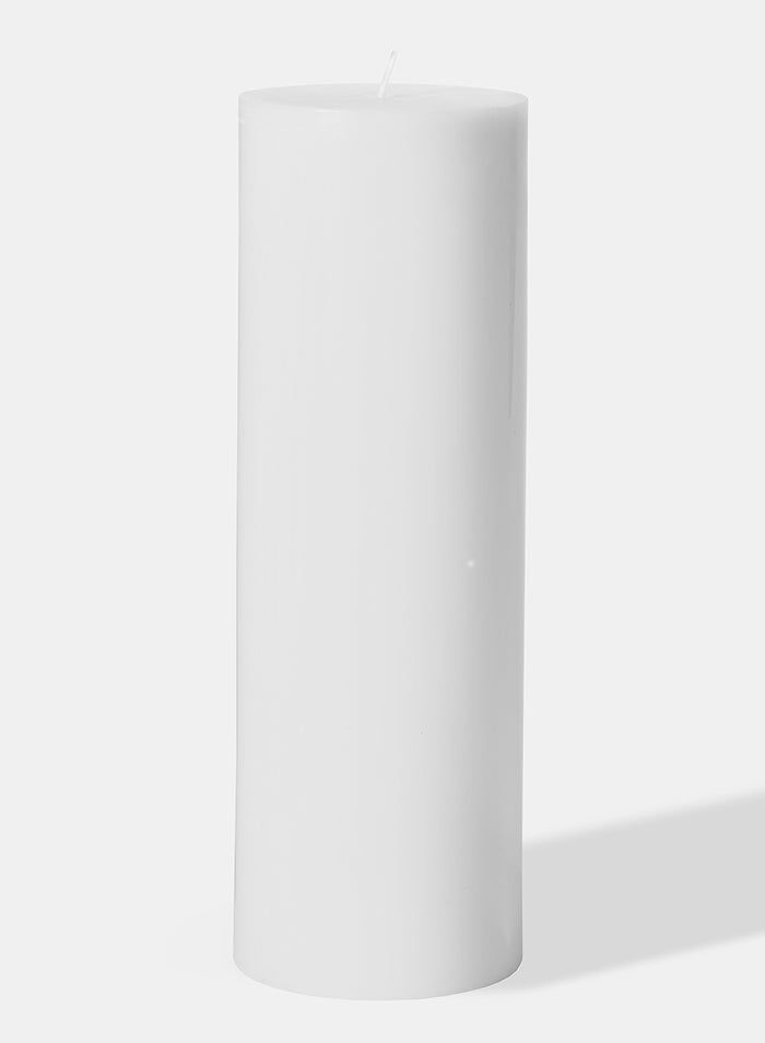 Extra Large White  Round Pillar Candle